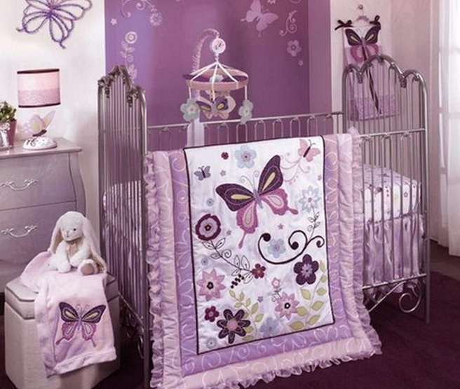 Baby Bedding For Girls Purple