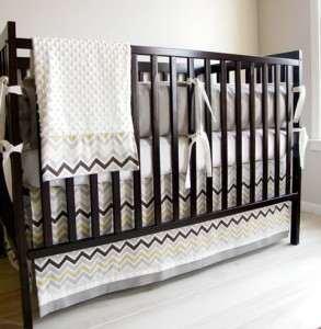 Baby Boy Bedding Chevron
