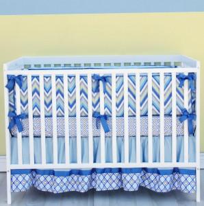 Baby Boy Chevron Bedding Sets