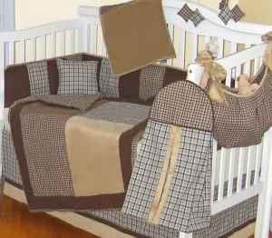 Baby Boy Crib Bedding Sets Plaid