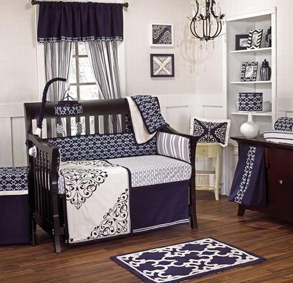 Baby Boy Modern Crib Bedding