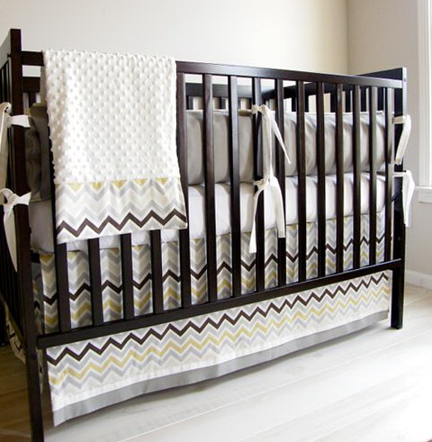 Baby Crib Bedding Chevron