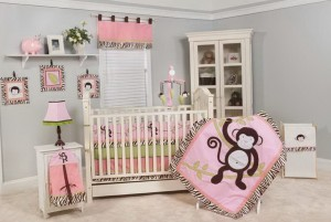 Baby Crib Bedding Monkey