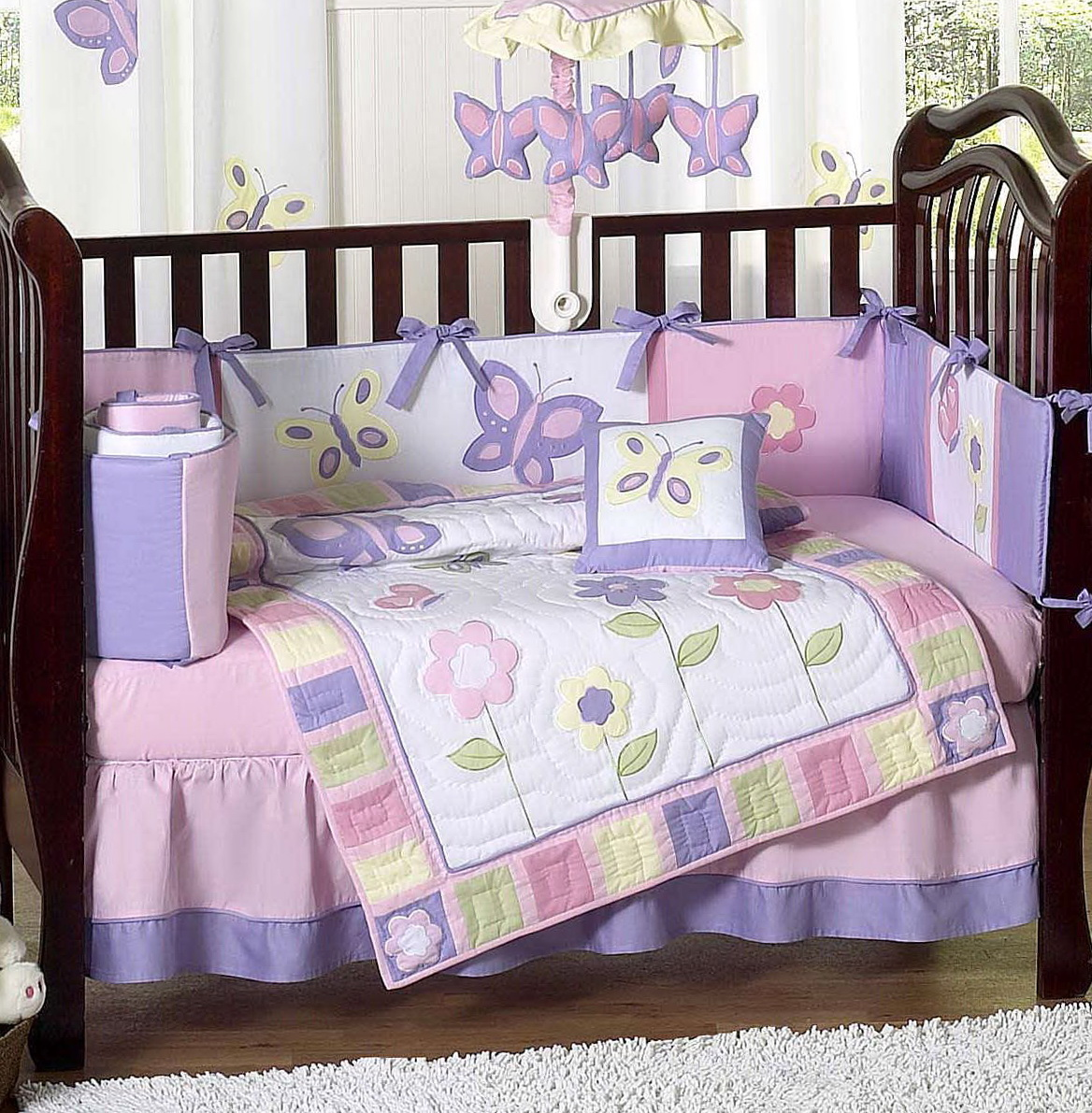 Baby Girl Crib Bedding Butterflies