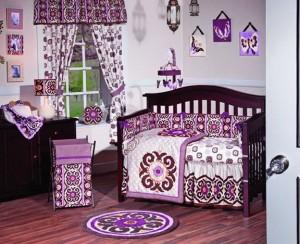 Baby Girl Crib Bedding Purple