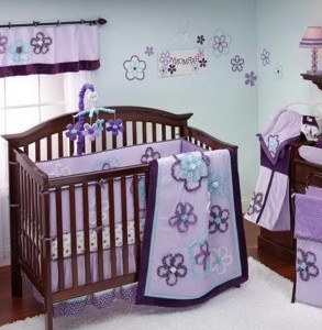Baby Girl Crib Bedding Sets Purple