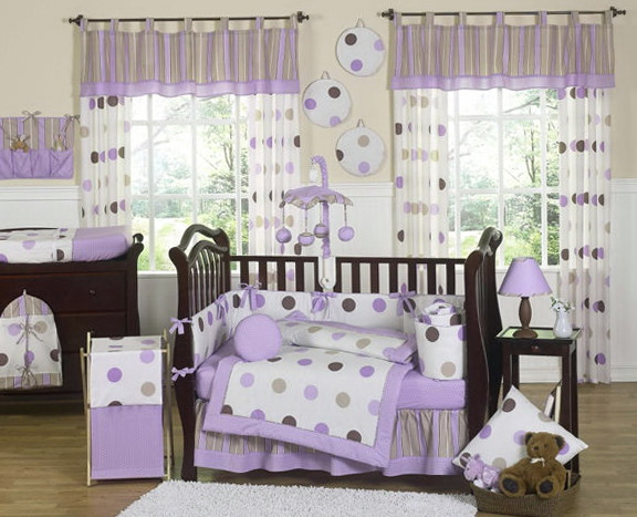 Baby Girl Nursery Bedding Sets Purple