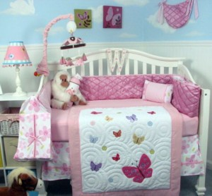Baby Pink Camo Bedding