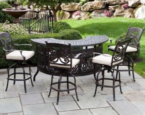 Cast Aluminum Outdoor Bistro Furniture Set