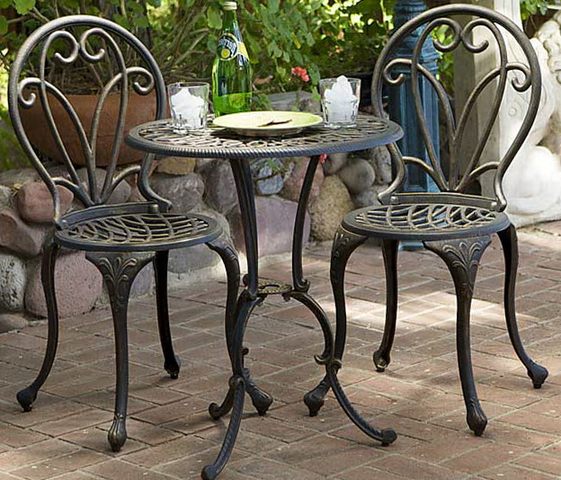 Cast Aluminum Patio Furniture Bistro Set