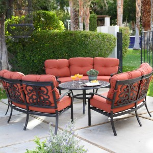 Cast Aluminum Patio Furniture Conversation Sets