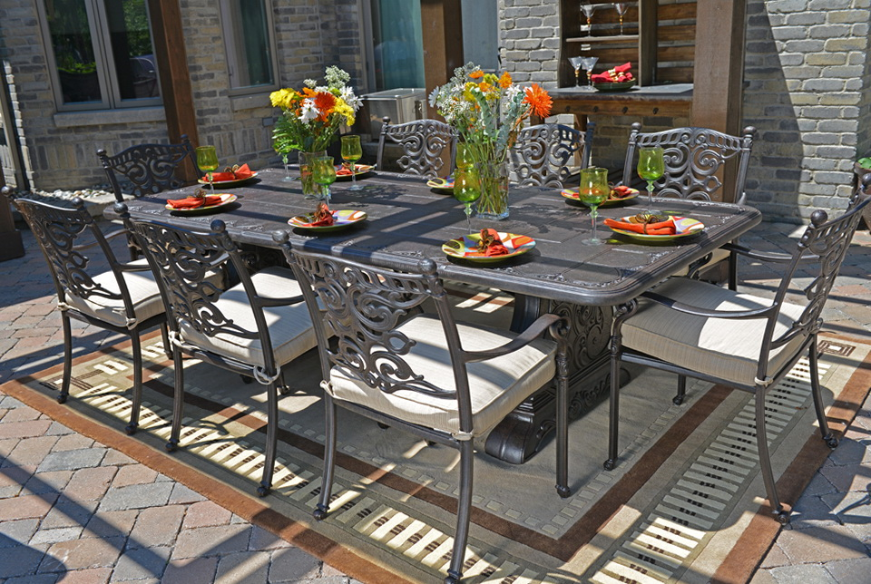 Cast Aluminum Patio Furniture Dining Sets