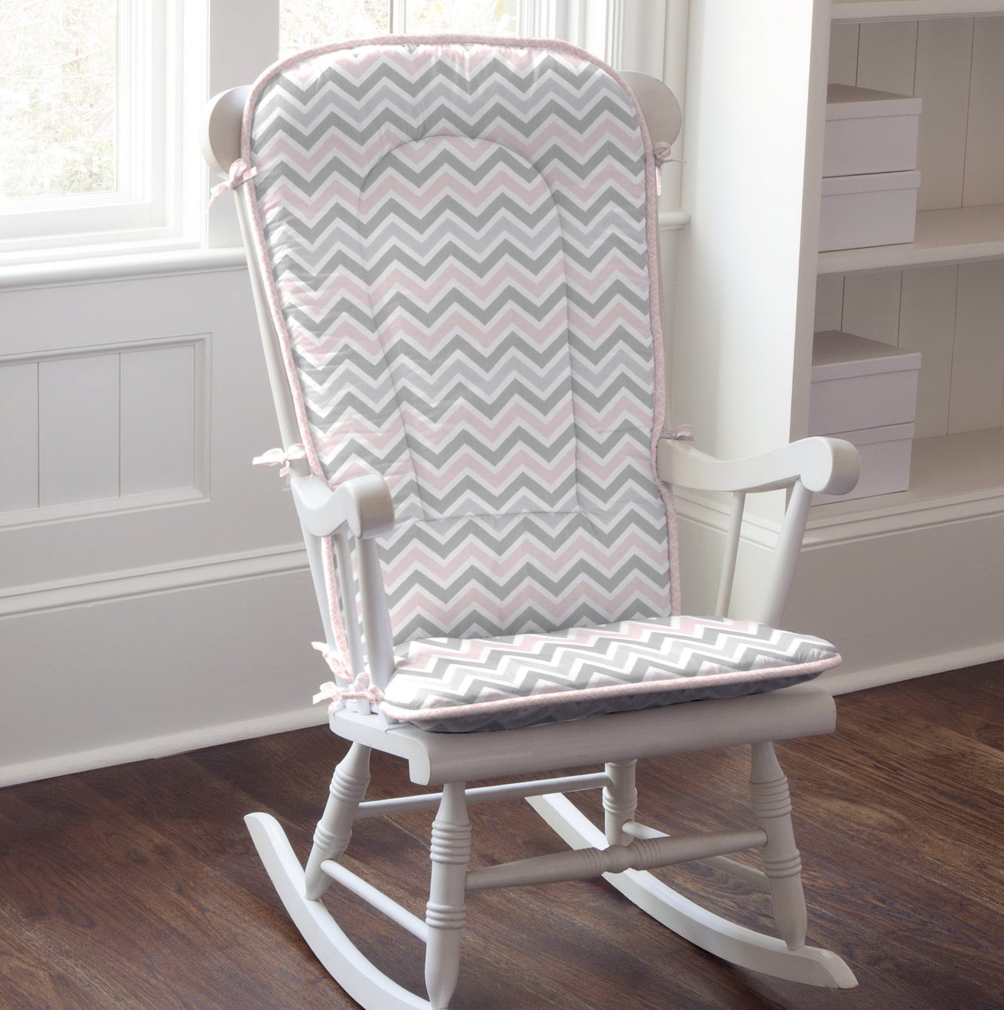 Chevron Rocking Chair Cushions