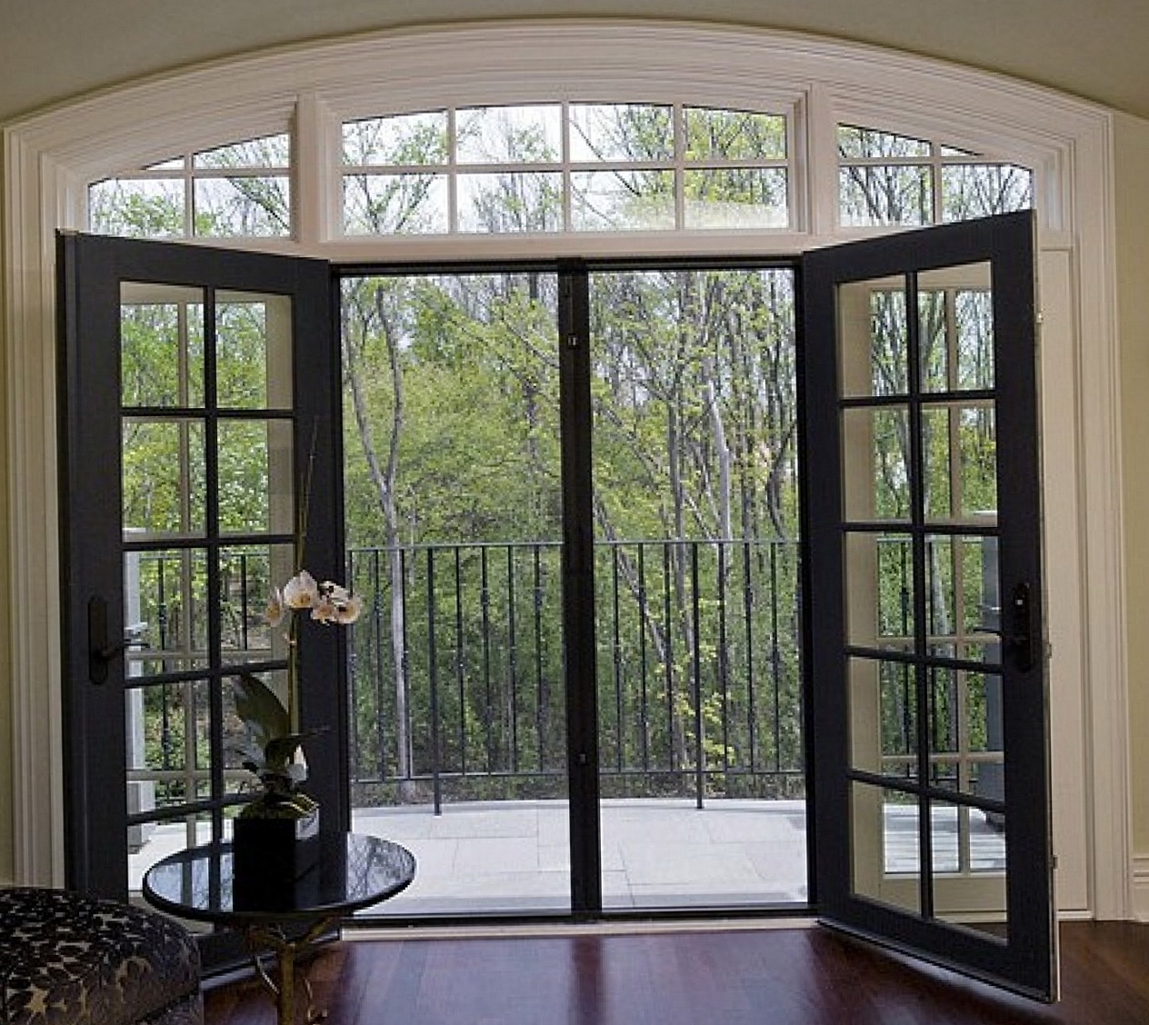 French Patio Doors Both Open