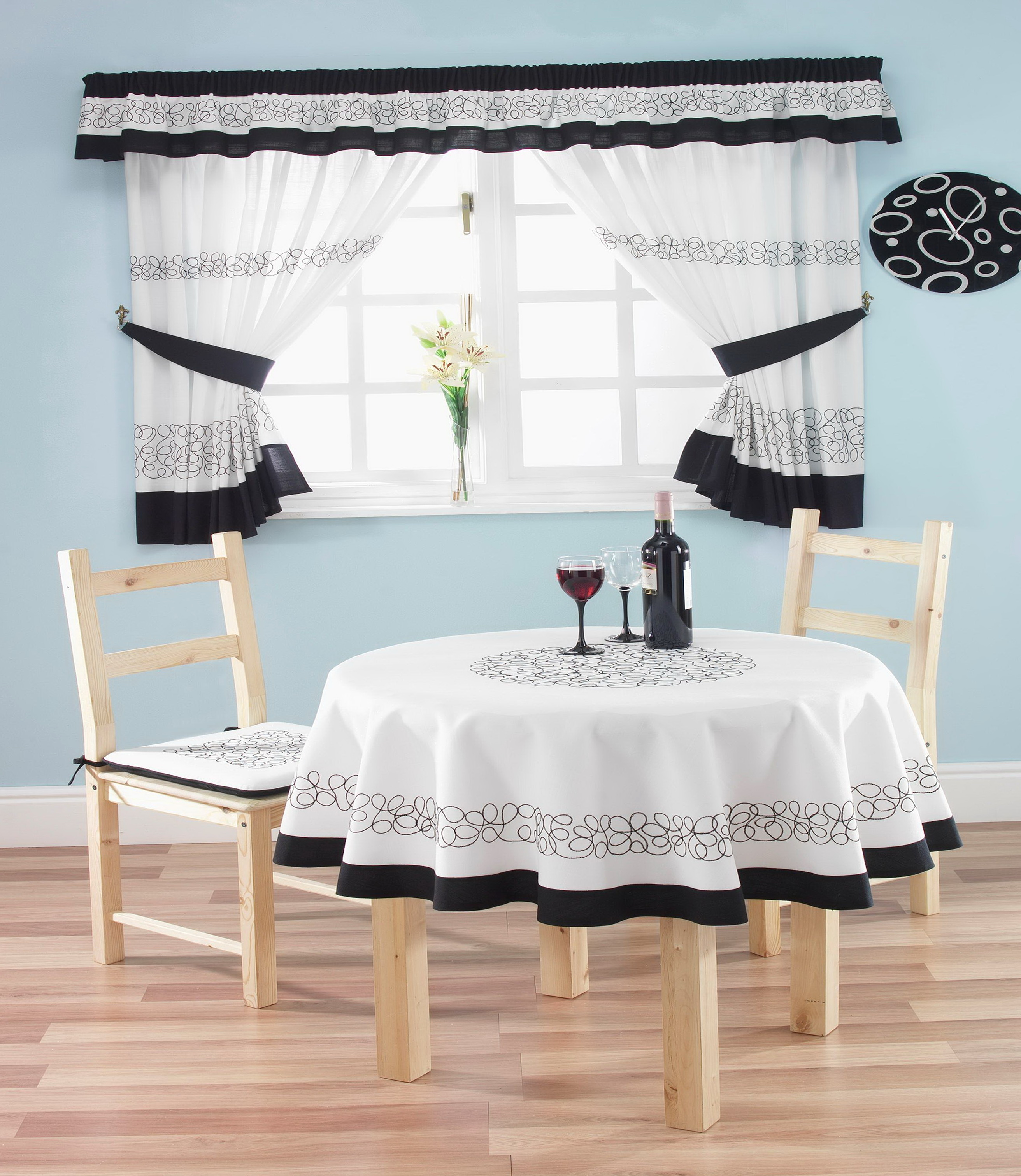 Kitchen Chair Cushions And Matching Curtains