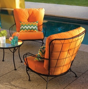 Outdoor Chair Cushions Orange