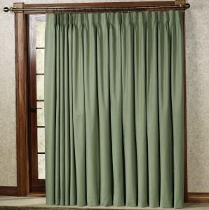 Patio Door Curtains Pinch Pleat