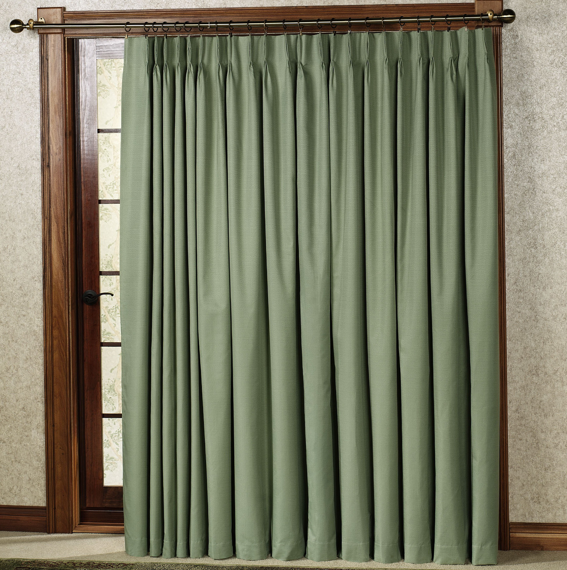 Patio Door Curtains Pinch Pleat