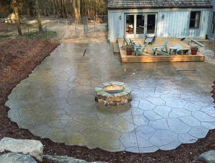 Stamped Concrete Patio Michigan