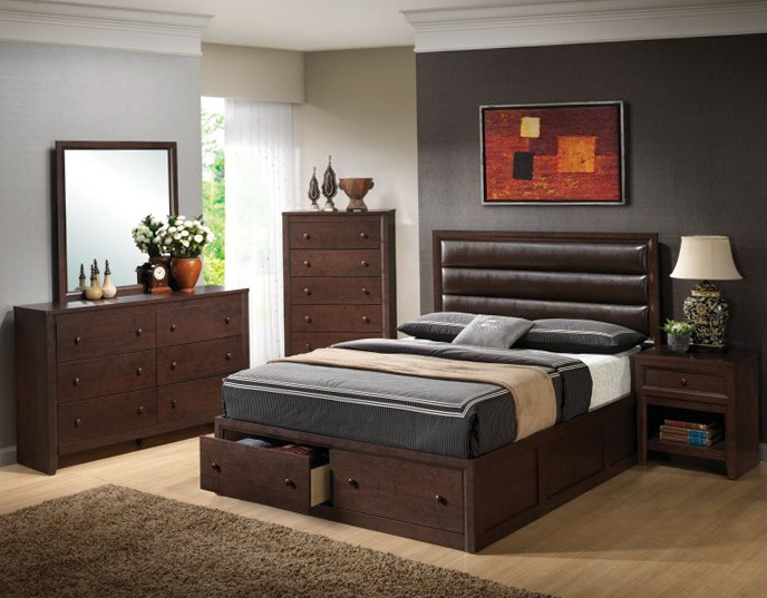 Bed Frame With Drawers Queen Size