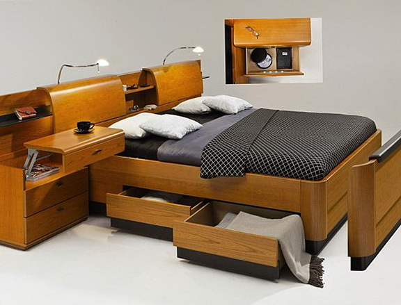Bed With Storage Designs
