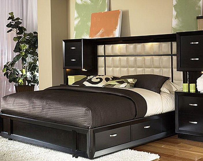 Bed With Storage In Headboard