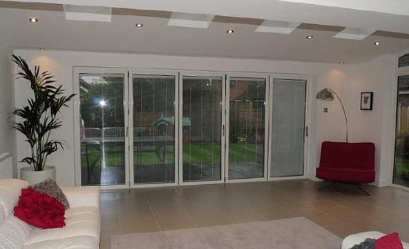 Bi Fold Doors With Integrated Blinds