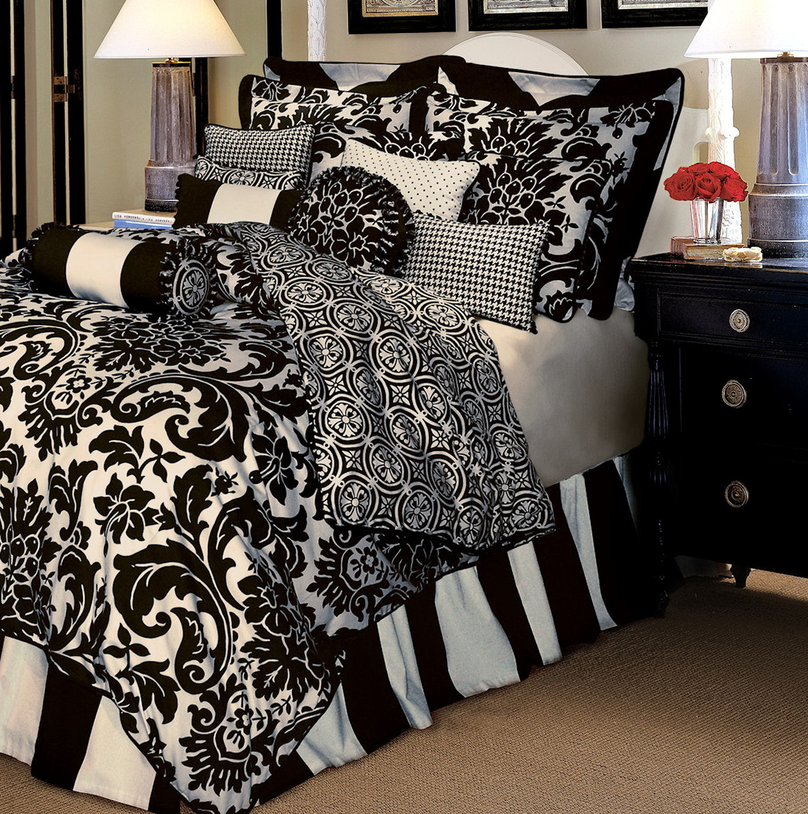 Black And White Bedding Sets Full Size