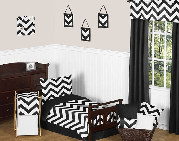 Black And White Chevron Bedding Full