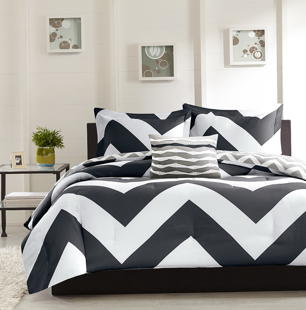 Black And White Chevron Bedding Queen