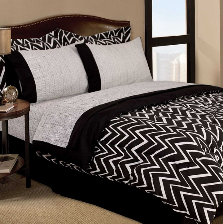 Black And White Chevron Bedding Twin