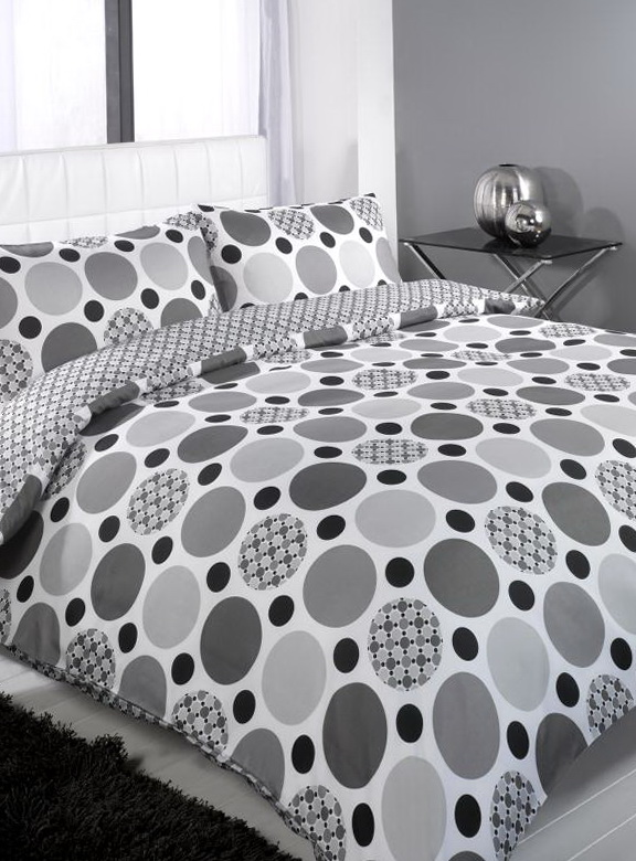 Black Grey And White Bedding