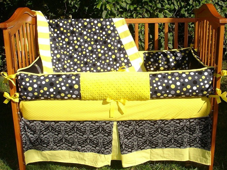 Black Grey And Yellow Bedding