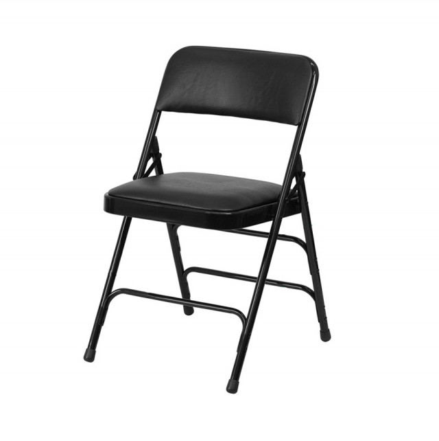 Black Padded Folding Chairs