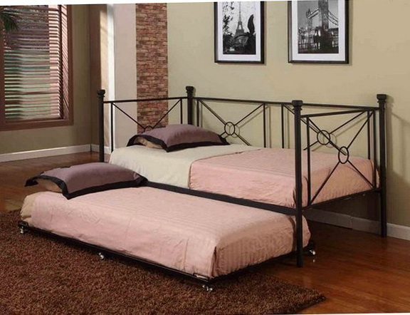 Black Twin Trundle Bed