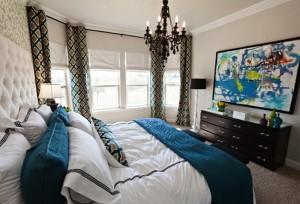 Black White And Tiffany Blue Bedding