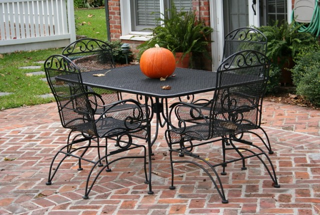 Black Wrought Iron Patio Furniture