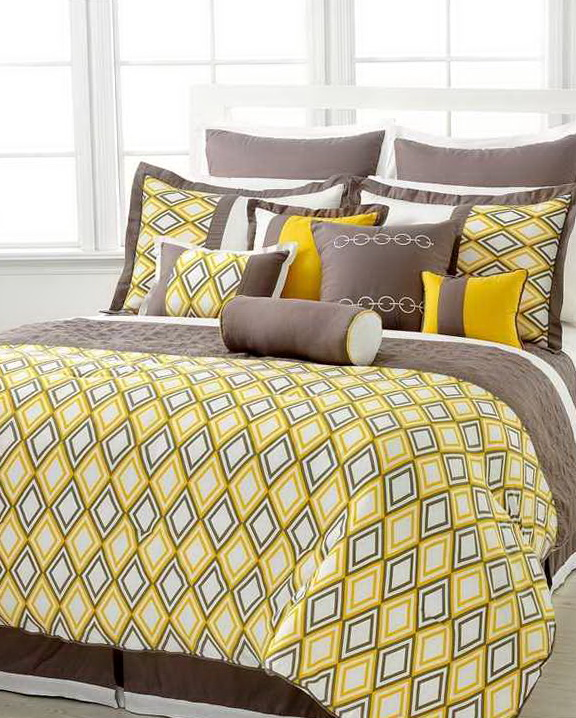 Black Yellow And Gray Bedding