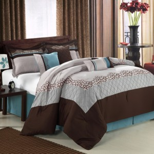 Blue And Brown Bedding King