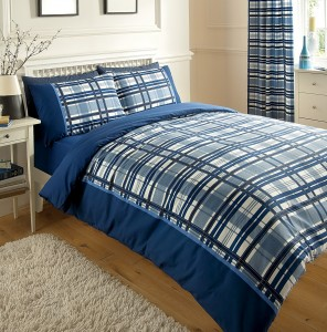 Blue Chevron Bedding Set