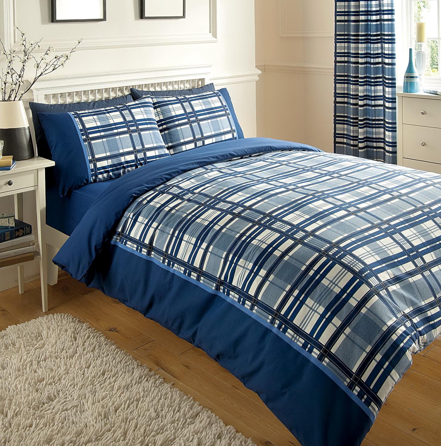Blue Chevron Bedding Set