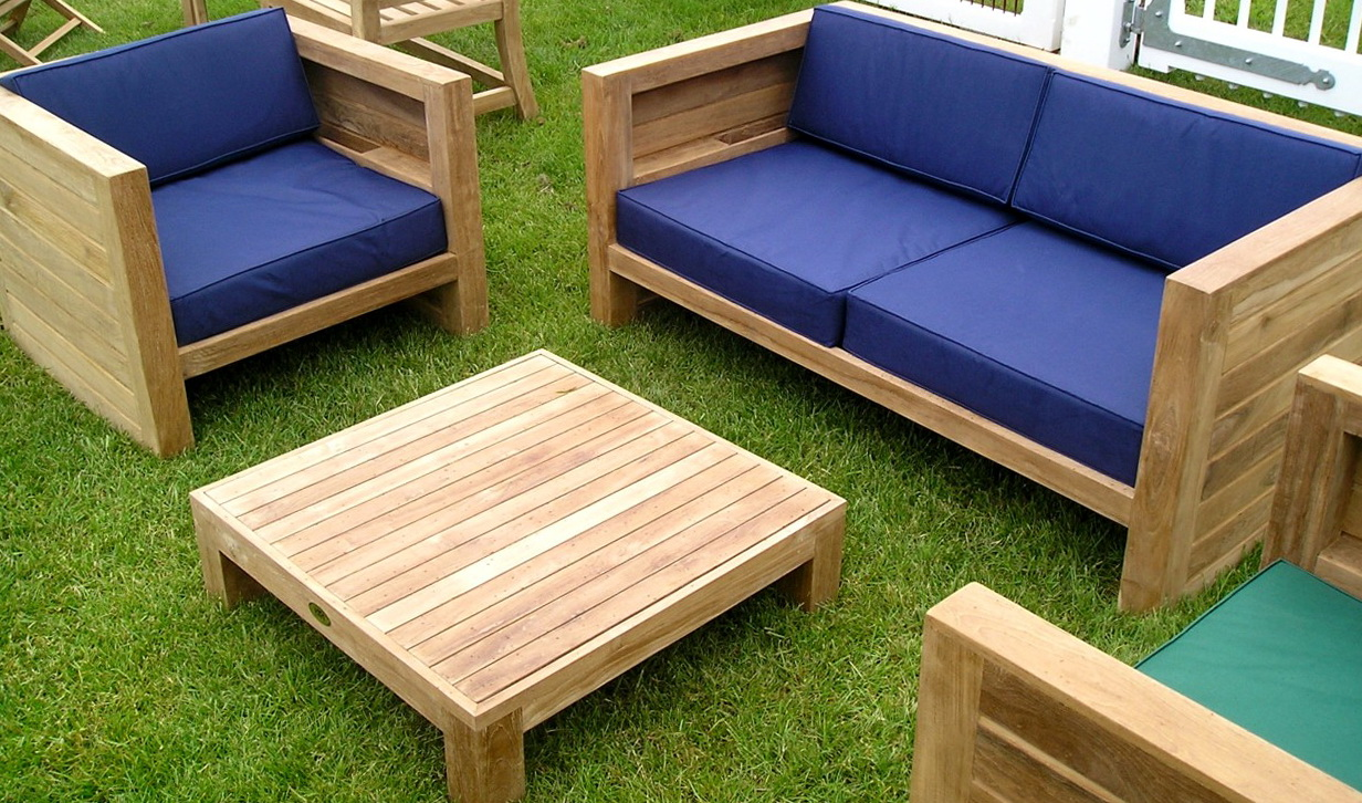 Blue Outdoor Patio Cushions