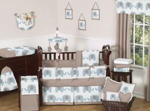 Boy Crib Bedding Elephant