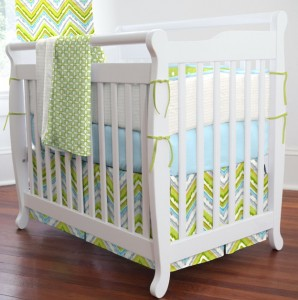 Boy Nursery Bedding Chevron