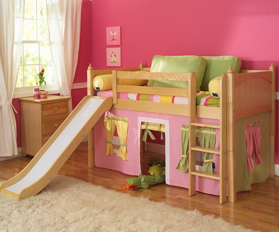 Built In Bunk Beds With Slide