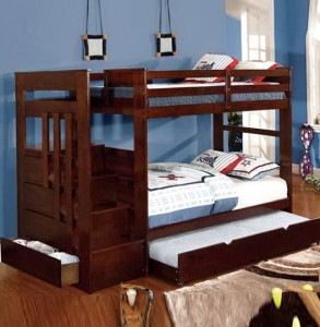 Bunk Bed With Stairs And Trundle