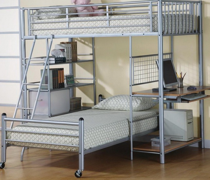 Bunk Beds Twin Over Full With Desk
