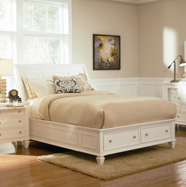 California King Platform Bed Frame With Storage