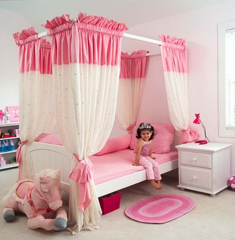 Canopy Bed Curtains For Girls