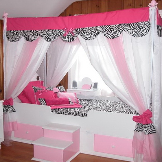Canopy Bed Curtains For Little Girls